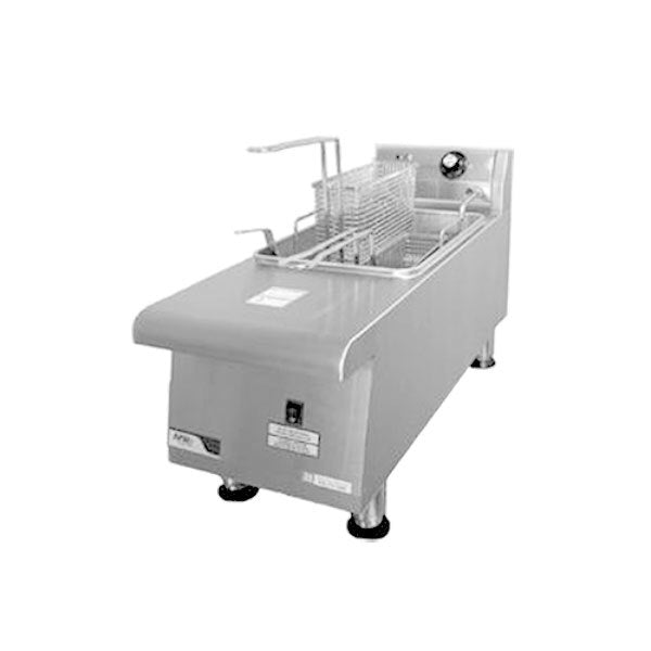 APW Wyott HEF-15SI Countertop Electric Fryer - (1) 15 lb Vat, 208v/1ph