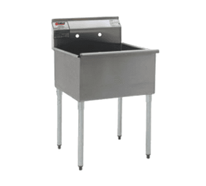 "Eagle Group 1824-1-16/4 25 3/8"" One Compartment Stainless Steel Commercial Sink without Drainboard"