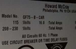 Howard McCray GF75-B-CAR Freezer