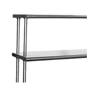 "Eagle Group 411284 - Overshelf, Flex-master® Overshelf System, Table Mount, 6/430 Stainless Steel - 84""W x 12""D"