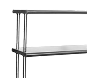 "Eagle Group 421048 - Overshelf, Flex-master® Overshelf System, Table Mount, 16/304 Stainless Steel - 48""W x 10""D"