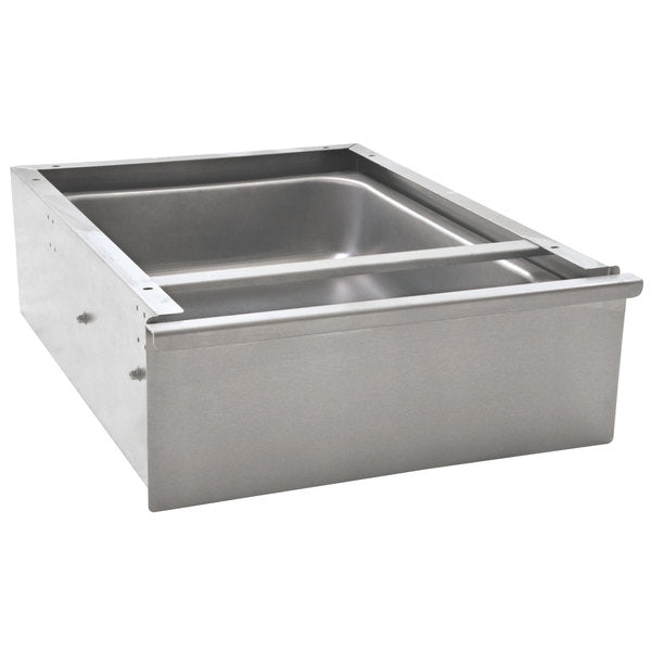 "Eagle Group 502947 - Drawer, Stainless Steel 20"" x 15"" x 5"" Enclosed Work Table Drawer - NSF Slides"