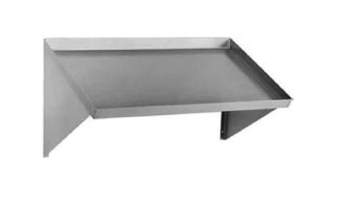 "Eagle Group 606294 - 84"" Slanted Rack Shelf, Solid, Wall Mount, Drip Tube on Left Side, Stainless Steel"