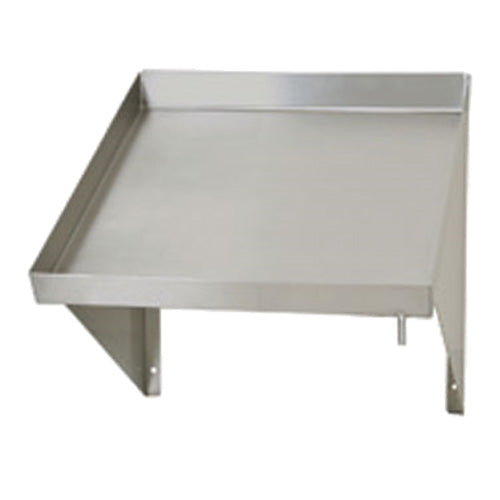 "Eagle Group 606642 - 42"" Dishtable Sorting Shelf, Slanted Rack Shelf, Stainless Steel, Wall Mount"
