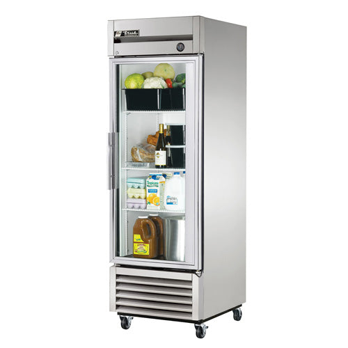 True T-23FG Reach-In Freezer, 1 Glass Door, 23 Cu. Ft.