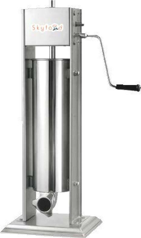 Skyfood 7V - Vertical Sausage Stuffer, Manual, 15 lb Capacity, 2 Speed, Stainless Steel, 4 Tubes