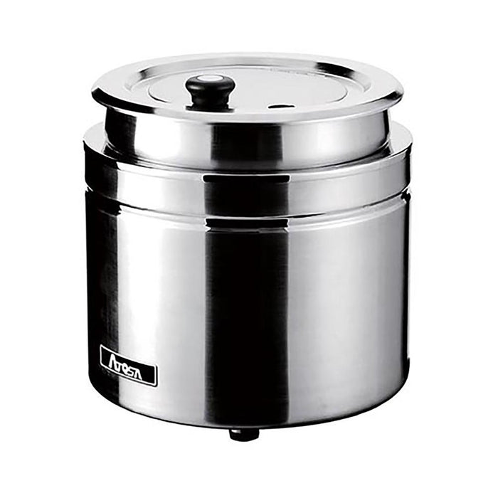 Atosa AT51388 - Soup/Food Warmer, Round, 10 Qt, Complete
