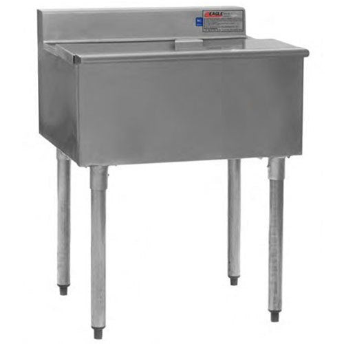 "Eagle Group B12IC-16D-18 - 12"" Ice Bin, 1800 Series Underbar Ice Chest Unit, 16"" Deep, Stainless Steel, 29 Lb. Capacity"