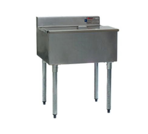 "Eagle Group B2IC-18 - 24"" Ice Bin, Underbar Ice Chest, 8"" Deep, Stainless Steel, 37 Lb. Capacity"