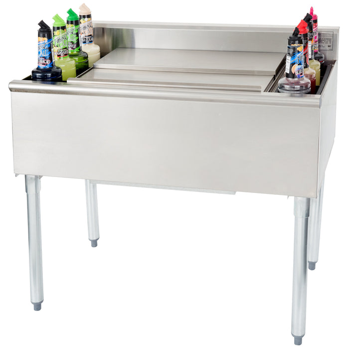 "Eagle Group B3CT-18-7 - 36"" Cocktail Station, 63 lb Ice Bin, 1800 Series, Underbar, Stainless Steel"