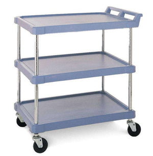 "Heavy-duty Plastic Service Cart BC2636-34, 3 Shelves, Beige Color 27""W"
