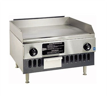 "Cecilware BG24 - 24"" Gas Griddle, LP, Countertop, Medium Duty, 2 Burners - 32,000 BTU"
