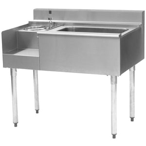 "Eagle Group BM62-18L - 62"" Underbar, Left Blender Module, Center 75lb Ice Bin , Right Drainboard, 1800 Series"