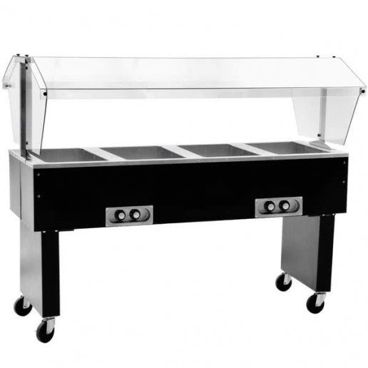 "Eagle BPDHT4-208 - 63.5"" Hot Food Buffet Table, Portable, Deluxe, Four Pan, Electric, Stainless Steel, 208V"