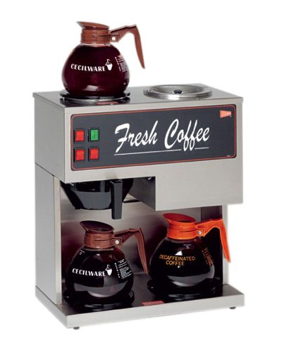 Cecilware BT3 - Coffee Brewer, Brew Time, Pour-Over, 3 Warmers, 120V, 1.7KW, 15A