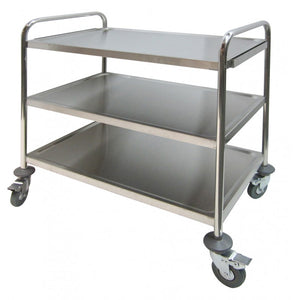 "GSW USA C-23K Food/Bussing Cart, 33.5"" x 21"", stainless steel, 200 lbs. load capacity"