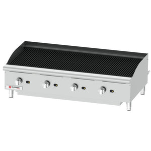 "Cecilware Pro CCP48 - 48"" Gas Charbroiler, Countertop, 4 Burner, With NG/LP Conversion Kit, Stainless Steel - 160,000 BTU"