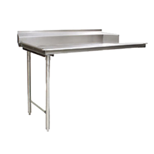 "Eagle Group CDTL-60-14/3 - 60"" Clean Dishtable, Right-to-left Operation, 14/304 Stainless Steel, 8""H Backsplash"