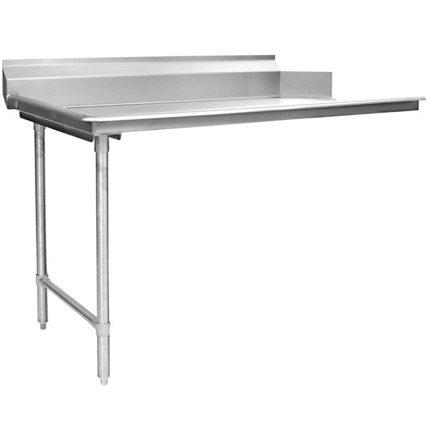 "Eagle Group CDTL-60-16/4 - Clean Dishtable, Right-to-left Operation, 16/430 Stainless Steel, 8""H Backsplash"