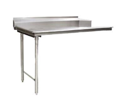 "Clean Dishtable CDTL-72-14/3 - 72"" Clean Dishtable, 8"" backsplash, straight design, stainless steel"