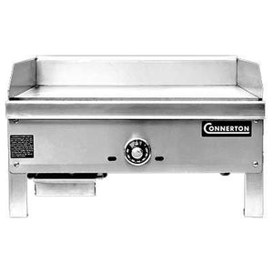 "Connerton CEG-27-T - 27"" Gas Griddle Plate, NG, Thermostatic Control, 2 Burners, Stainless & Aluminized Steel - 44,000 BTU"