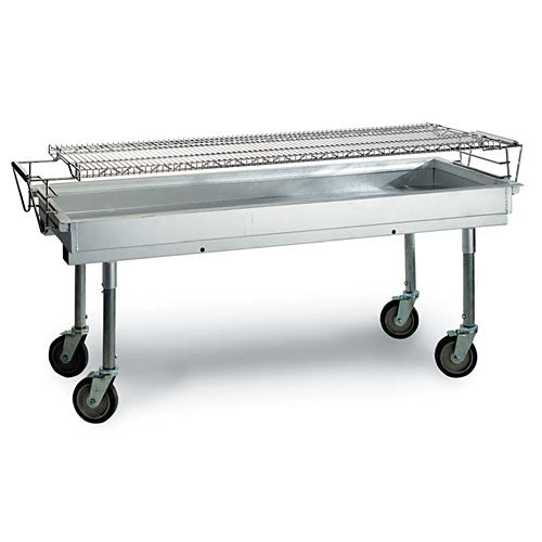 "Magikitch'n CGL-60 - 60"" Charcoal Grill, Mobile, Outdoor, Commercial, Aluminized Steel"