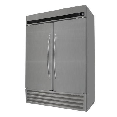 "Fogel USA CR-48-SDR 59.37"" Two Section Reach In Refrigerator with (2) Solid Hinged Stainless Steel Doors, Bottom Mounted Refrigeration, 115v/60/1-ph"
