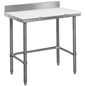 "Eagle Group CT3036S-BS 36""W x 30""D Work Table, Poly Top, Cutting Table, Removable backsplash"