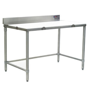 "Eagle Group CT3048S-BS - 30""x48"" Cutting Table With Removable Poly Top, Backsplash"