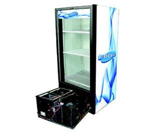 "Fogel USA DECK-10.5-HC - 25.6"" Refrigerated Merchandiser, one-section, (1) glass door, reach-in, 10 cu. ft. capacity"