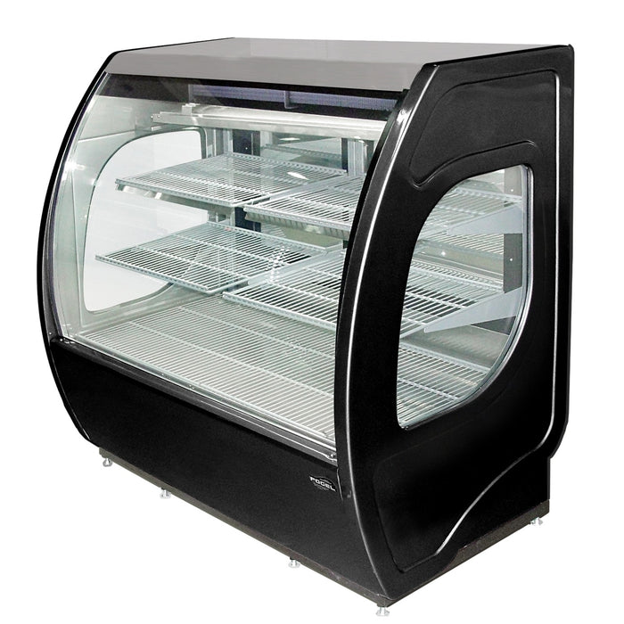 "Fogel USA ELITE-6-DC-B 77"" Refrigerated Deli Display Case with (2) Two Rear Sliding Glass Doors, Black, 115v/60/1-ph"