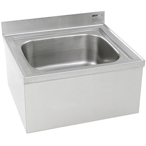 "Eagle Group F1916 - 20"" x 16"" x 8"" Mop Sink, Floor Mounted, Stainless Steel"
