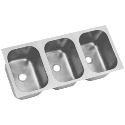 Eagle Group FDI-16-19-13.5-3 - Weld-In Sink bowl, Three Compartment, Welded 18/304 Stainless Steel, Deep-drawn Seamless
