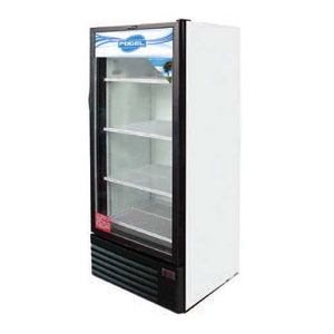 "Fogel USA DECK-12-HC, 25.6"" Refrigerated Merchandiser, One Section, Glass Door, Reach-in, 12 cu. ft. Capacity"