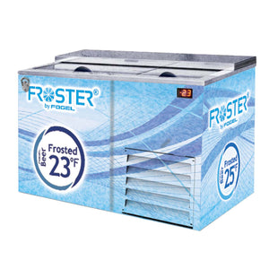 "Fogel FROSTER-B-50-US - 51.3"" Horizontal Beer Froster, 2 Section, 2 Solid Sliding Doors, Underbar, 15 Cu.ft., 1/4 HP, 115V"