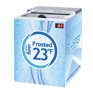 "Fogel FROSTER-B25-HC - 26"" Horizontal Beer Froster, 1 Section, Underbar, 1 Solid Sliding Door, 5 Cu.ft., 1/5 HP, 115V"