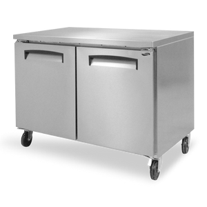 "Fogel FST-45F 119.50"" 12 cu. ft Undercounter Freezer w/ (2) Section and (2) Solid Hinged Doors, 115V/60Hz/1"