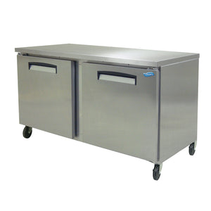 "Fogel USA FST-59 64"" 15.7 cu. ft Refrigerated Counter Top w/ (3) Sections and (2) Solid Hinged Doors, 115v/60/1-ph"