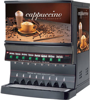 Cecilware GB8MP-10-LD-U 8 Flavor Cappuccino Machine w/ (1) 10 lb & (7) 5 lb Hoppers, 120v