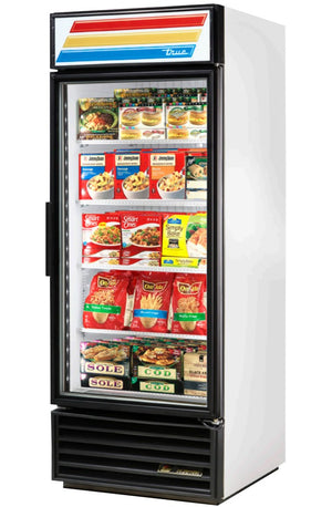"True GDM-26F-LD - 30"" Merchandiser Freezer, 1 Section, 1 Glass Door, 4 Shelves, Bottom Mount, 3/4 HP, 26 Cu.ft., 115V"