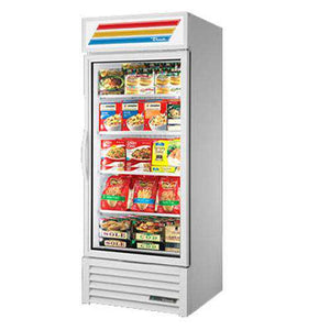"True GDM-26F 30"" Merchandiser Freezer  One-Section w/ Swinging Door - Bottom Mount Compressor, White, 115v"