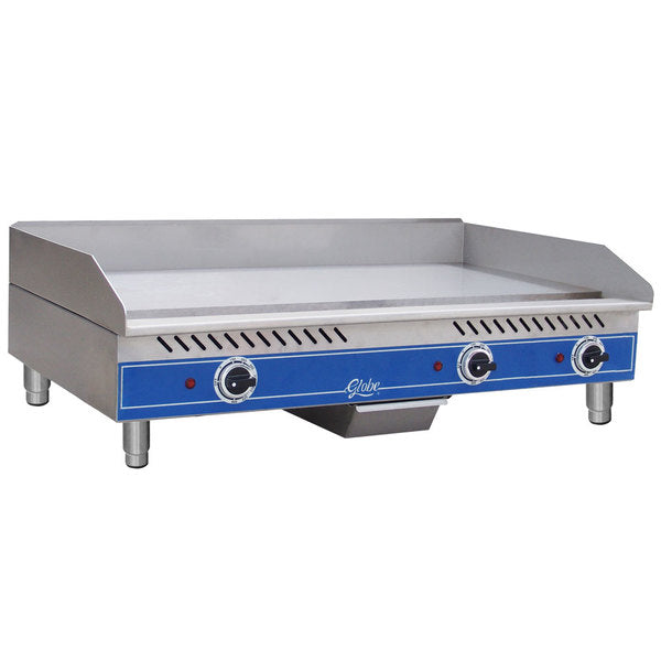 "Globe GEG36 36"" Electric Griddle w/ Thermostatic Controls - 1/2"" Steel Plate, 208-240v/1ph"