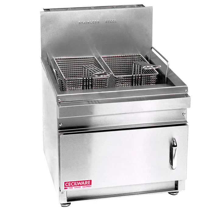 "Cecilware GF16 - 12.3"" Gas Fryer, LP, Countertop, 16 lb Fat Capacity - 20,000 BTU"