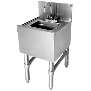 "Eagle Group HS12-19 - Hand Sink, with Deck Mount Faucet, 20/304 Stainless Steel Body - 12""W x 19""D"