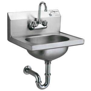 Eagle Group HSA-10-FA - Hand Sink with Gooseneck Faucet, P-Trap, Tail Piece, and Basket Drain