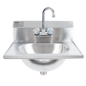 "Eagle Group HSA-10-F - 13.5"" Hand Sink with Gooseneck Faucet and Basket Drain"
