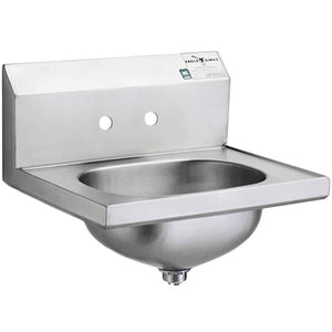 "Eagle Group HSA-10 - Hand Sink with 4"" Faucet Center Holes and Basket Drain"