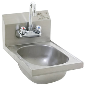 Eagle Group HSAN-10-F - Hand Sink with Splash Mount Gooseneck Faucet and Basket Drain