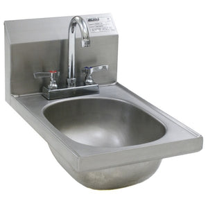 Eagle Group HSAND-10-F - Hand Sink with Deck Mount Gooseneck Faucet and Basket Drain