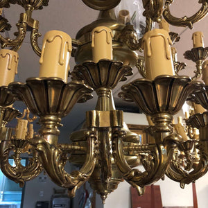 "36 Light Classic Brass Chandelier for Indoor Lighting 32"" x 31"""